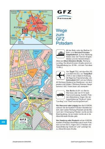 Zweijahresbericht 2004/2005 GeoForschungsZentrum Potsdam