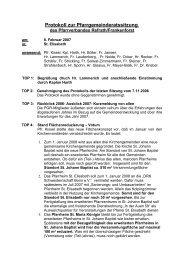 Protokoll zur Pfarrgemeinderatssitzung - Kirchen-in-refrath.de