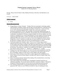 Page 1 Dripping Springs Community Library District March 20, 2013 ...