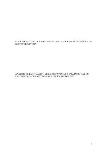 el observatorio de salud mental de la asociación española de ...