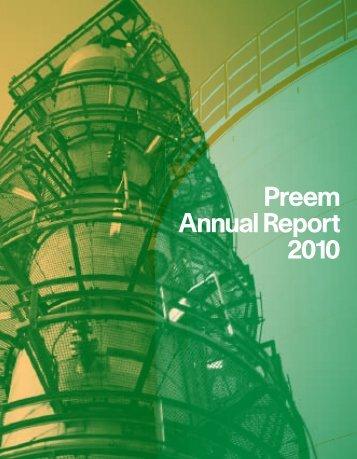 Preem Annual Report 2010