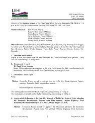 City Council Minutes 09/28/10 - Lehi City