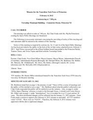 Minutes for the Transition Task Force of Princeton February 8, 2012 ...