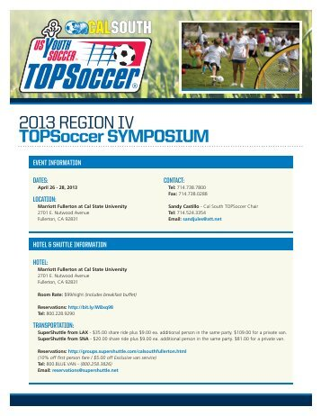 2013 REGION IV TOPSoccer SYMPOSIUM - US Youth Soccer ...