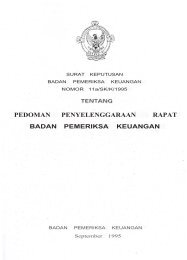 pedoman penyelenggaraan rapat - Badan Pemeriksa Keuangan