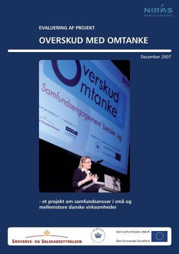 Evaluering af projekt Overskud med Omtanke - Samfundsansvar