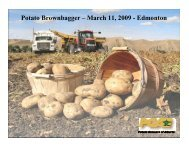Potato Growers of Alberta - Agriculture and Rural Development