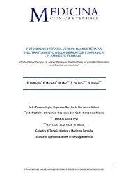 Foto-balneoterapia versus balneoterapia nel trattamento della ...
