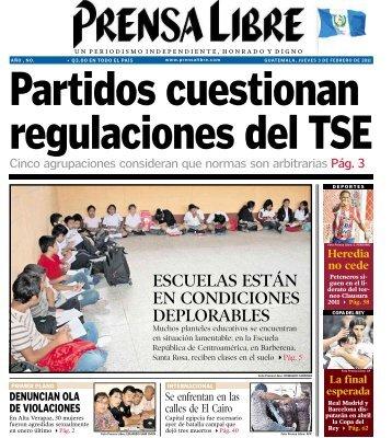escuelas están en condiciones deplorables - Prensa Libre