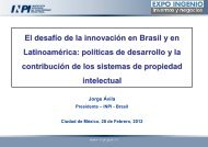 El desafío de la innovación en Brasil y en Latinoamérica ... - Inpi