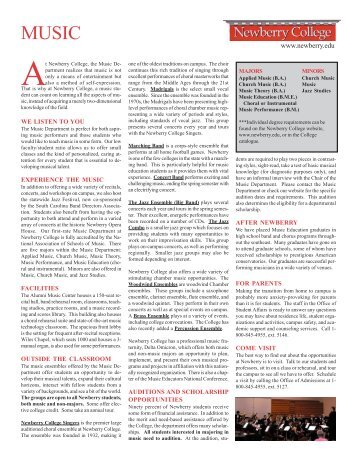 Forensic Science Brochure - Newberry College
