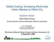 Increasing World-wide Urban Albedos to Offset CO2 - California ...