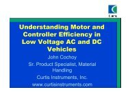 U d t di M t d Understanding Motor and Controller Efficiency in ...