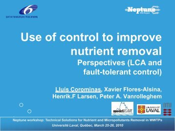Use of control to improve nutrient removal - EU Project Neptune
