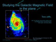 Studying the Galactic Magnetic Field in the plane (so far)