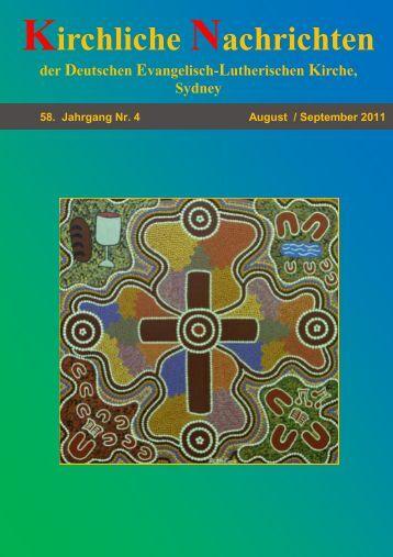 Kirchliche Nachrichten - Evangelisch in Sydney