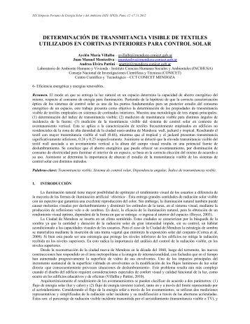 determinación de transmitancia visible de textiles utilizados en ...