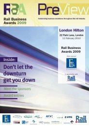 RBA2009 PreView Cover v2-1.indd - Rail Professional