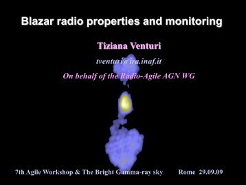 Blazar radio properties and monitoring - AGILE