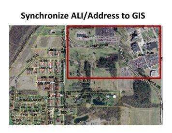Synchronize ALI/Address to GIS - State of Oregon