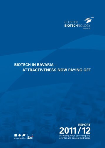 Bavarian Biotech Report 2011/2012 (7MB) - Bio M