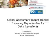 Global Consumer Product Trends - InnovateWithDairy.com