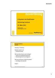 Contrexx Integration in E-Commerce Plattform der Postfinance