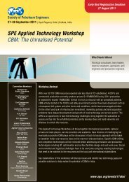 SPE Applied Technology Workshop CBM - Society of Petroleum ...