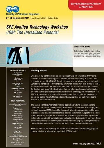 SPE Applied Technology Workshop CBM - Society of Petroleum ...