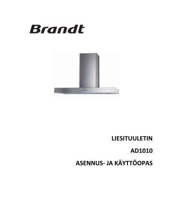 LIESITUULETIN AD1010 ASENNUS- JA KÄYTTÖOPAS - Netrauta.fi