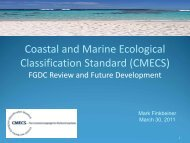 Coastal and Marine Ecological Classification Standard (CMECS)