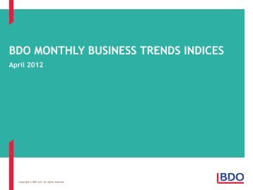 BDO Business Trends Report April 2012 - UK.COM