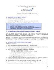 Informations détaillées sur le fonctionnement de INDEMNIPRO
