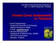 15 Forest Cover Assessment in Thailand - Group on Earth ...