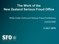 The Work of the New Zealand Serious Fraud