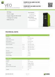 technical data v2zr10 24-240v ac/dc v2zr10p 24-240v ... - Tele Haase