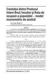 Corelaţia dintre Produsul Intern Brut/locuitor şi Rata de ocupare a ...