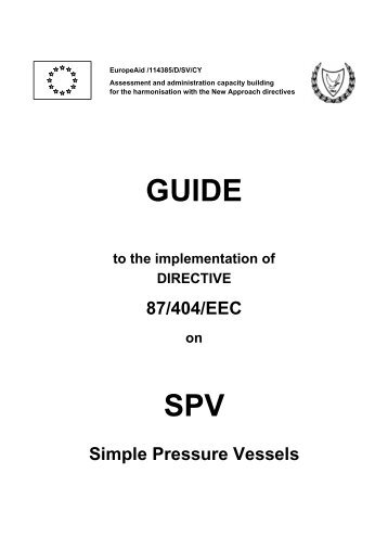 GUIDE SPV - Cyprus Organization for the Promotion of Quality