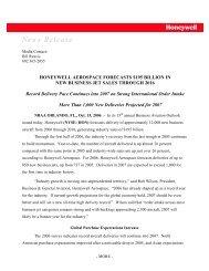 Honeywell Forecast 2007 to 2016 - Aerospace Industries Association