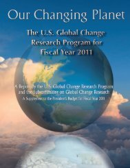 The U.S. Global Change Research Program for ... - The White House