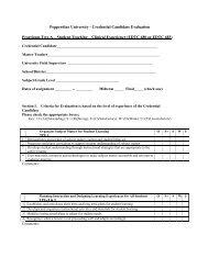 Credential Candidate Evaluation Form - Practicum 2A - Pepperdine ...
