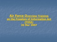 Freedom of Information Act & Privacy Act Training For FOIA/Privacy ...