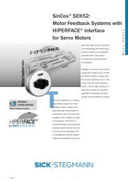 SinCos® SEK52: Motor Feedback Systems with HIPERFACE ...