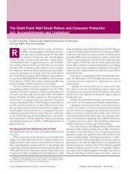The Dodd-Frank Wall Street Reform and Consumer Protection Act ...