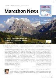 Broschüre zum Brixen Dolomiten Marathon - Marathon4you.de