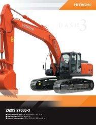 Zaxis 270-3 - Distribuidora Nissan SA