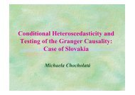 Conditional Heteroscedasticity and Testing of the Granger Causality ...