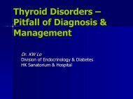 Thyroid Disorders – Pitfall Of Diagnosis ... - Hkmacme.org