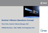 Sentinel-1 Mission Operations Concept - Esa