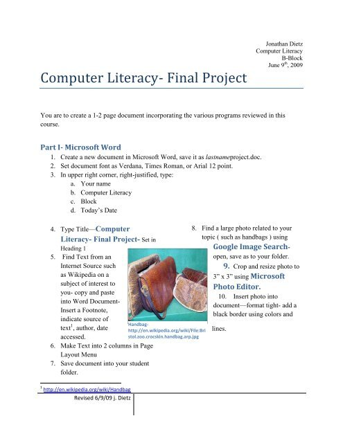 Computer Literacy Final Project